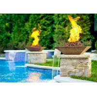 Garden Fire Pit Water Feature Combo , Fire Pit And Water Feature 2.5mm Thicknes Manufactures
