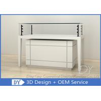 Buy cheap Modern Wooden Glossy White Jewellery Showroom Counter With Cabinet from wholesalers