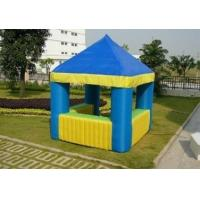 3 * 3 * 3.2m Blue 420D Oxford Cloth Inflatable Park Tent For Exhibition Manufactures