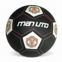 Football with 30% High Rubber Content, Official Size and Wind Rubber Bladder, CE-marked Manufactures