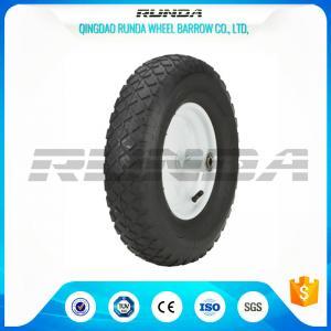 "Blocky Patterns Pneumatic Rubber Wheels 2PR ,  Hand Trolley Wheels8"" Steel Rim Manufactures"