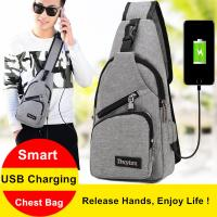USB Charging Interface Small Hiking Backpack With One Strap Leisure Canvas Manufactures