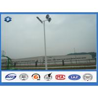 Four Lights highway lighting pole Slip joint flange connected , high mast lighting towers 20W- 1000W power Manufactures
