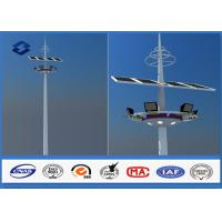 28m Q345 Material Customized carolina High Mast Light Pole With Lifting Systems Manufactures