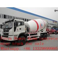 2017s new best price 8m3 FOTON ROWOR 6x4 concrete mixer truck for sale, factory sale good price cement mixer truck Manufactures
