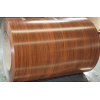 Color Coated Pre Painted Galvalume or Galvanized Coil 508MM / 610mm Coil Inner Diameter wooden color below 1.2mm thickne Manufactures