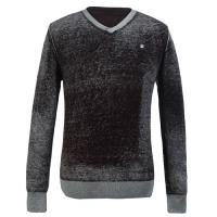 European style Black full sleeve Mens Knitted Sweaters with V Neck for Boys Manufactures