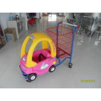Logo Print Kids Shopping Carts With Baby Car And 4 Rotating Flat Casters Manufactures