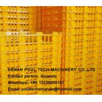 Poul Tech White Color PE Material Broiler Chicken Carriage Cage & Plastic Transport Cage for Poultry Farm Manufactures