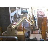 Industrial Robotic Automatic Palletizer Machine , Compact Robotic Bag Palletizer Manufactures