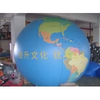 Earth Pattern Tarpaulin PVC Inflatable Advertising Balloons Customized Good Tension Manufactures