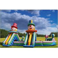 Outdoor Big Amusing Inflatable Amusement Park Sports Games / Waterproof Manufactures