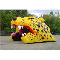 Yellow inflatable tiger american football football helmet tunnel inflatable football dome Manufactures