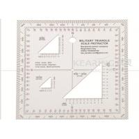 Military Triangle Scale Protractor 11cmx11cm square set sandwich line printing for militry KMP-2 Manufactures