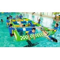 Aqua Park Inflatable Water Games , Commercial Swimming Pool Inflatable Hurdle Manufactures