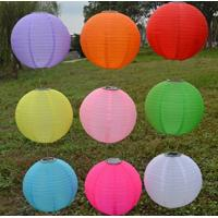 Quality Colorful 10 Inch / 12 Inch Solar LED Lantern Nylon Cloth Material For Party for sale