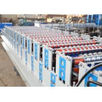Quality European Style Roof Panel Roll Forming Machine , Partial Arc Color Steel Roof for sale