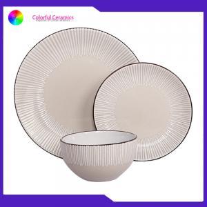 Buy cheap Stoneware dinner set glazed silkscreen dessert plate sala bowl ceramic tableware from wholesalers