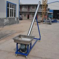 Siliver color 1.5KW carbon steel agriculture screw conveyor for grain Manufactures