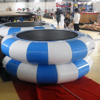 Green And Yellow Inflatable Jumpers / Inflatable TrampolineFor Children Or Adults Manufactures