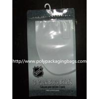 Composited Clear Poly Bags for Short Pants , Plastic Hanger Bags Manufactures
