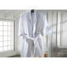 Eco Friendly Waffle Hotel Towel Set / Kimono Collar Soft Cotton Bathrobe Manufactures