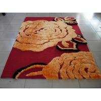 Big Flower Structured Acrylic underlay Polyester Shaggy Face Carpet Rug 2400G Pile Manufactures