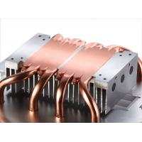 China Soldered Pin Fin Heat Sink With Copper Pipe Liquid Evaporate Technology on sale