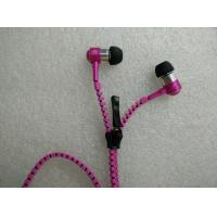 Quality 3.5mm In Ear Zipper earphone headphone headset with MIC Zip earphones for iphone for sale