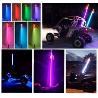 Bluetooth car led light RGB color Quick Release 12V IP68 2-6 Feet Car Antenna buggy flag safety led whips for ATV UTV Manufactures