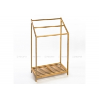 50cm Length 85cm Height Bamboo Free Standing Towel Rack Manufactures