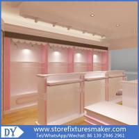 Factory OEM Supplier mdf  wooden  in pink white lacquer Baby Girl Clothing Stores display furnitures Manufactures