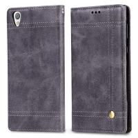 Quality Brief Business Sony L Flip Cover , Wallet Stand Protective Leather Case for sale