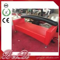 3 Seat Waiting Area Sofa Red Customers Chair Used Barber Shop Furniture Cheap Waiting Room Chair Manufactures
