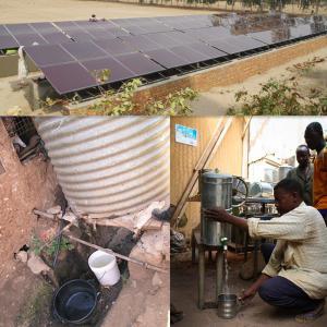 Solar irrigation system AC 380V 50/60Hz solar water pump system Manufactures