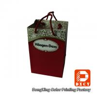 Quality Red Wedding Paper Gift Bags With Cotton String Colorful Printing Glossy for sale