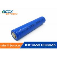 cordless telephone battery ICR14650 3.7V 1050mAh li-ion batteries 14650, 14500, 18500, 18650, 26650 for led light Manufactures
