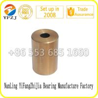 Quality Oilless bearing gold supplier slide bush factory direct  oil bearing bush,sintered copper sleeve for sale