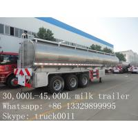 factory price high quality road milk tank truck for sale, factory direct sale best price CLW stainless steel milk truck Manufactures
