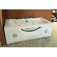 "Large 70"" Corner Whirlpool Bathtub 2 Person Jetted Tub Built - In Heater Manufactures"