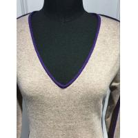 Slim Fitting Women'S V Neck Sweater , V Neck Sweater For Women Hand Wash Manufactures