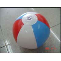 Pvc Inflatable Sports Games  Blue Beach Ball 35cm Good Tension Manufactures