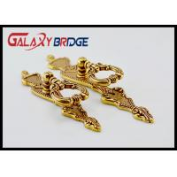 Gold Decorative Ring Pulls 85mm Length Zinc Alloy Cabinet Door Handles Light Brass Royal Furniture Fittings Manufactures