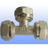 compression brass fitting equal tee for PEX-AL-PEX Manufactures