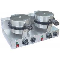 Quality Stainless Steel Waffle Cone Baker Machine 2-Plate Non-Stick, Snack Bar Equipment for sale
