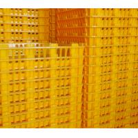 Quality Poul Tech White Orange Color Plastic PE Material Broiler Chicken Carriage Cage & Transport Cage for Poultry Farm for sale