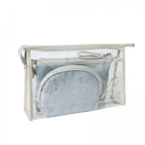 Zipper Transparent PVC Cosmetic Bag 3 Pieces Set Manufactures