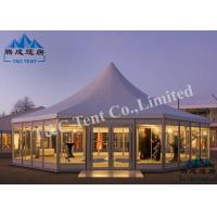 Octagon Hotel Bell Tent Easy Assembled With Light Frame Steel Structure Manufactures