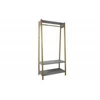 BSCI Bamboo And MDF 2 Shelves Coat Rack With Shoe Bench Manufactures