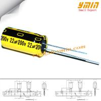 Buy cheap 2.2uF 200V 5x11mm Capacitor GP Series 105°C 4,000 ~ 6,000 Hours Radial Electrolytic Capacitor for USB Power Charger RoHS from wholesalers
